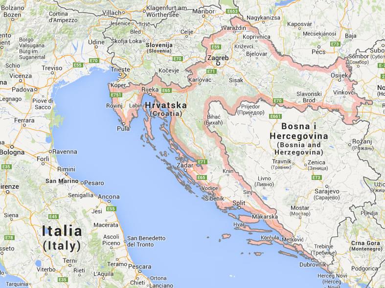 umag kroatien karte Luxury villas in Croatia   firstclass holidays umag kroatien karte